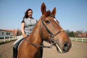 Glückliches Pferd - glücklicher Reiter