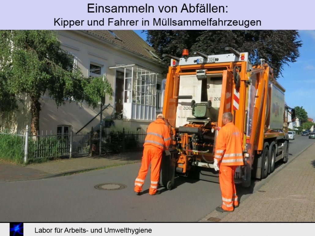 Schimmelpilze in der Entsorgungswirtschaft messen – Abfallsammlung